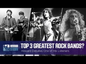 Howard Stern picks the three greatest rock bands of all time