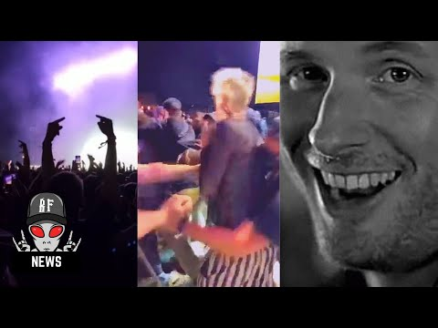 Machine Gun Kelly throws punch at audience member  at Louder Than Life festival