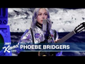 Phoebe Bridgers performs 'Moon Song' in a spacesuit live on 'Jimmy Kimmel'